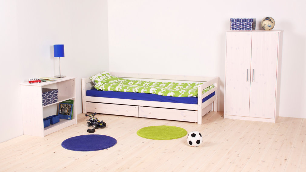 Kinderzimmer FLEXA BASIC Hit Einzelbett