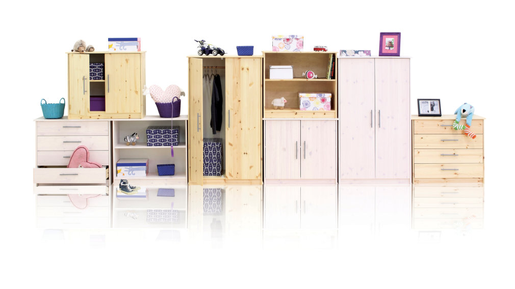Kinderzimmer Flexa Basic Hit Tisch, Schrank, Kommode, Regal
