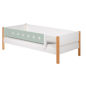 Mobile Preview: Flexa White Einzelbett 90x190 cm vordere Sicherung mint
