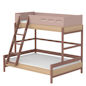 Preview: Flexa Popsicle Familienbett mit Schrägleiter in 90/140x200 Cherry