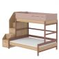 Preview: Flexa Popsicle Familienbett mit Treppe in 90/140x200 Cherry