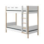 Mobile Preview: Flexa Hohes Etagenbett gerade Leiter 90x190 Eiche / White