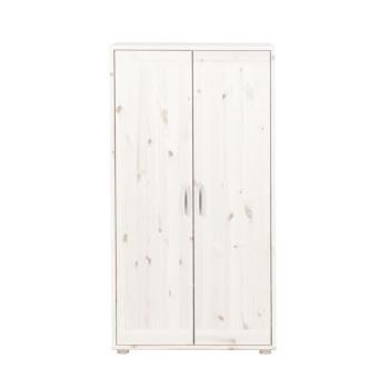 kleiderschrank 2 t ren kieferwei kieferwei wei 358. Black Bedroom Furniture Sets. Home Design Ideas