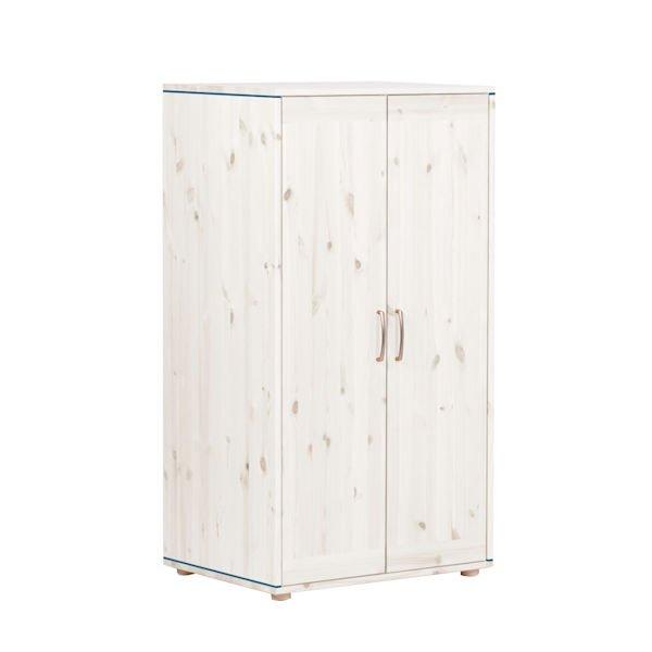 kleiderschrank 2 t ren wei blue blue 358. Black Bedroom Furniture Sets. Home Design Ideas