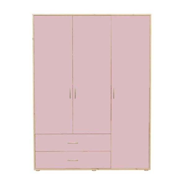 kleiderschrank 3 t ren 2 sch be kiefer rosa rosa 938. Black Bedroom Furniture Sets. Home Design Ideas