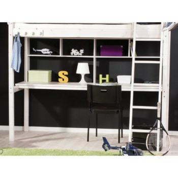 flexa basic trendy schreibplatte regal hochbett wei 204. Black Bedroom Furniture Sets. Home Design Ideas