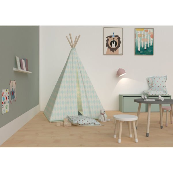 tipi zelt mit steppmatte t rkis in t rkis 83 90223 139. Black Bedroom Furniture Sets. Home Design Ideas