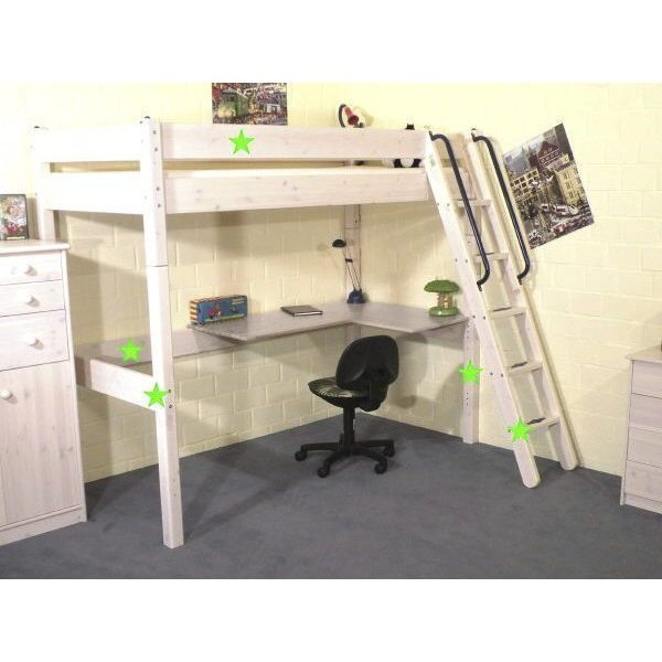 thuka maxi baupaket hochbett schr gl wei nur 339 eur. Black Bedroom Furniture Sets. Home Design Ideas