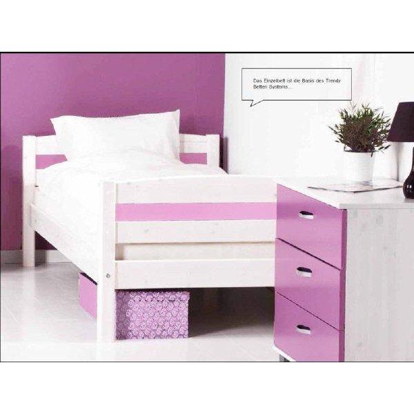 flexa thuka trendy einzelbett 90x200 wei pink kombi. Black Bedroom Furniture Sets. Home Design Ideas