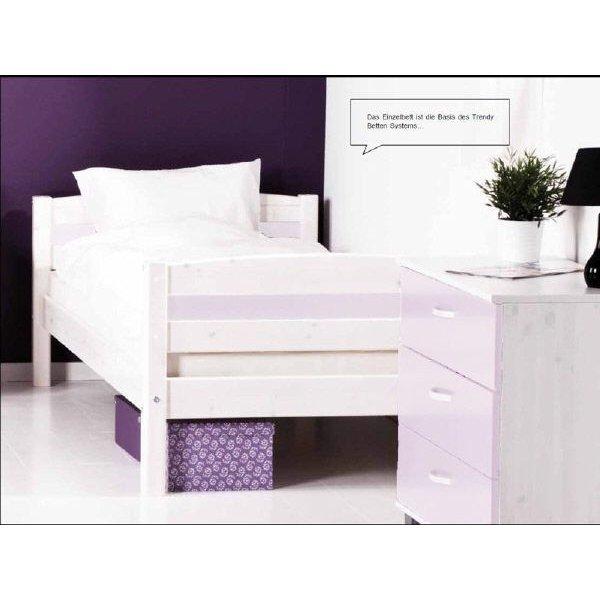 flexa basic trendy einzelbett 90x200 wei wei 159. Black Bedroom Furniture Sets. Home Design Ideas