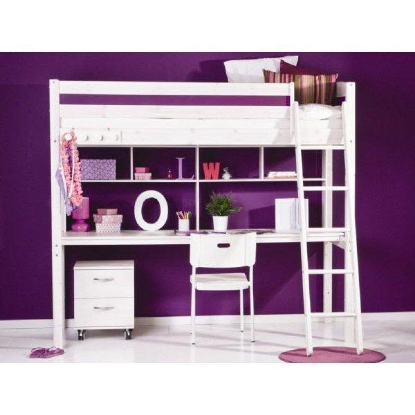 flexa basic trendy hochbett schr gl wei lila 369. Black Bedroom Furniture Sets. Home Design Ideas