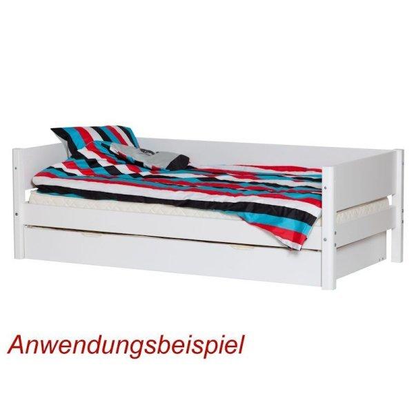 flexa white einzelbett 90x200 pfosten wei 80 17102 40 269. Black Bedroom Furniture Sets. Home Design Ideas