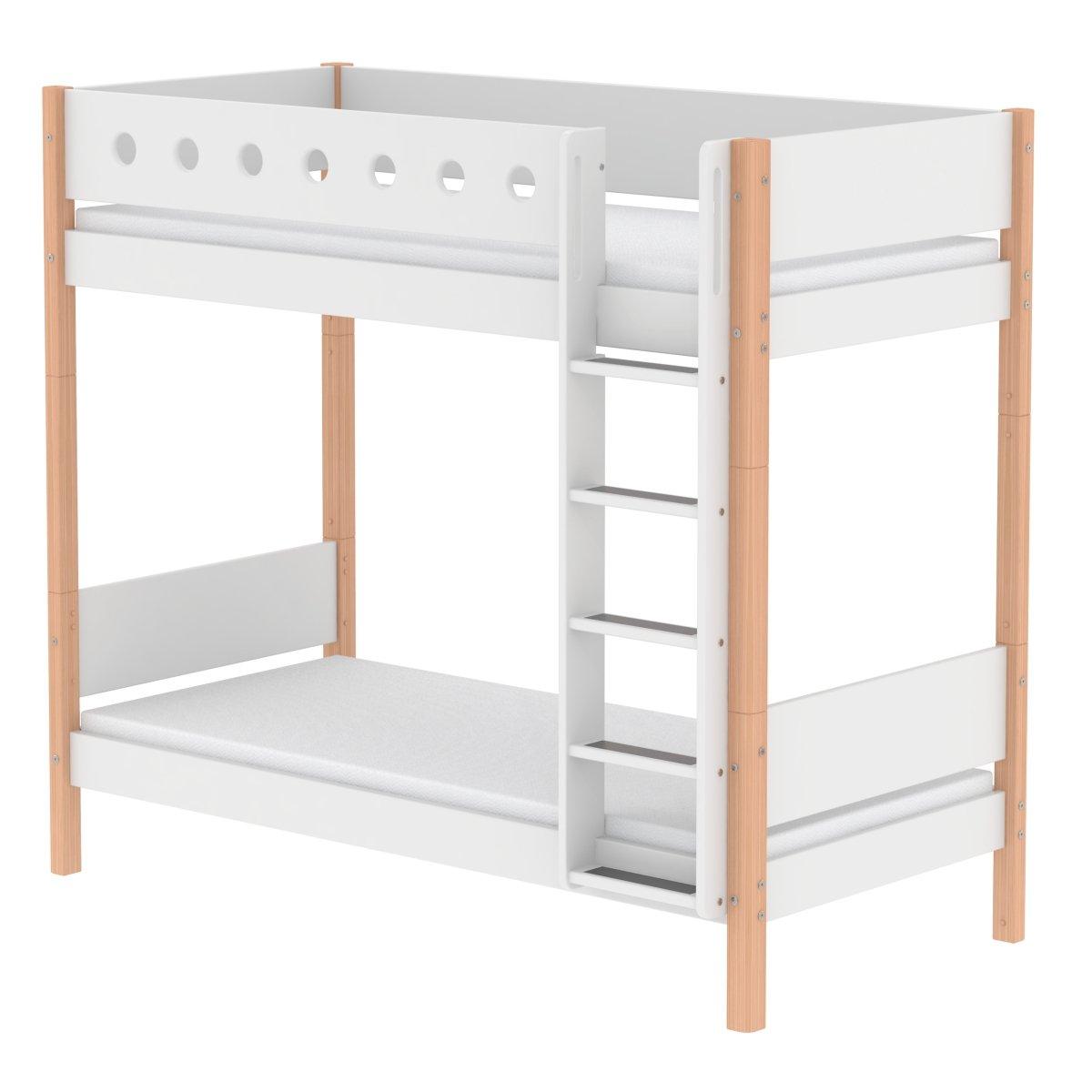 Außergewöhnlich Flexa Etagenbett Dekoration Von White Extra Hohes 90x200 Birke/weiß
