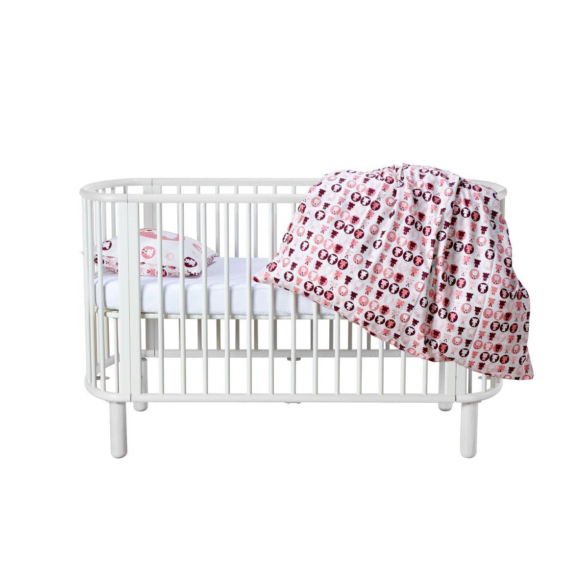 flexa babybett 70x140 buche wei 80 17801 40 611. Black Bedroom Furniture Sets. Home Design Ideas