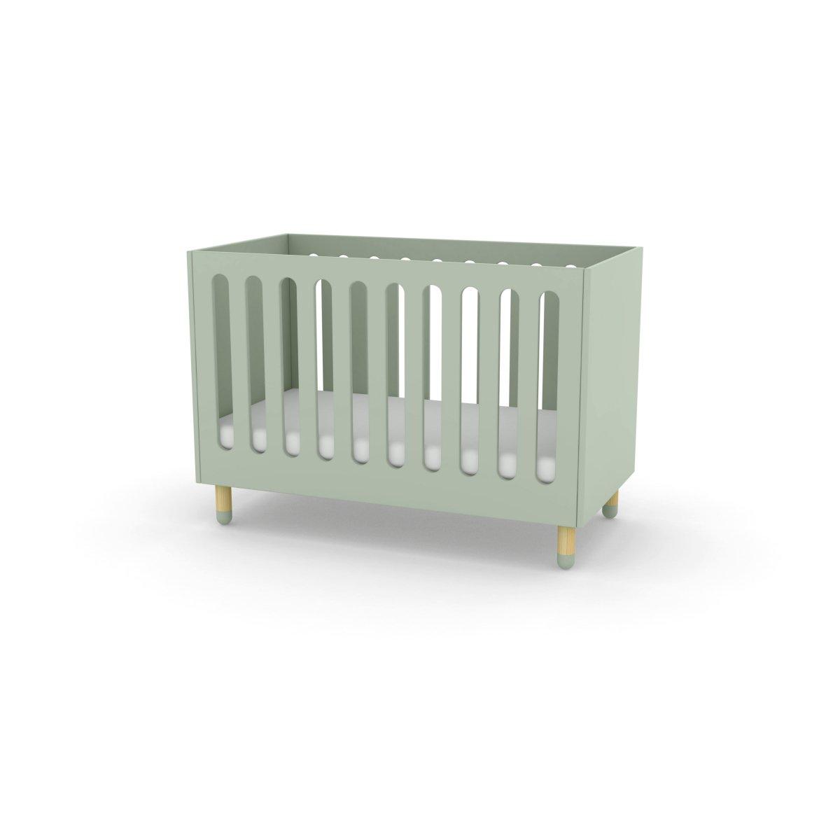 flexa play kinderbett babybett in 60x120 cm mintgr n 407. Black Bedroom Furniture Sets. Home Design Ideas