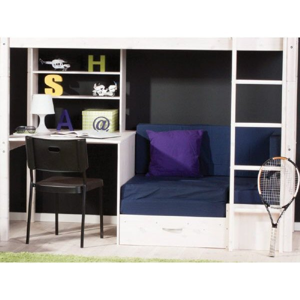 flexa basic trendy hochbett kombination casa wei 299. Black Bedroom Furniture Sets. Home Design Ideas