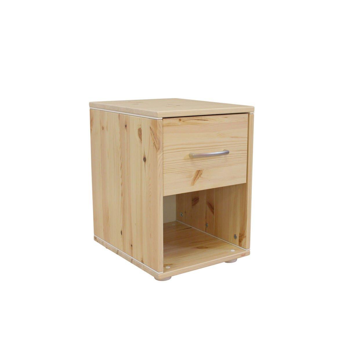 Nachttisch Schmal Weiß.Classic Nachttisch 1 Schublade Kiefer Kiefer Weiß 156
