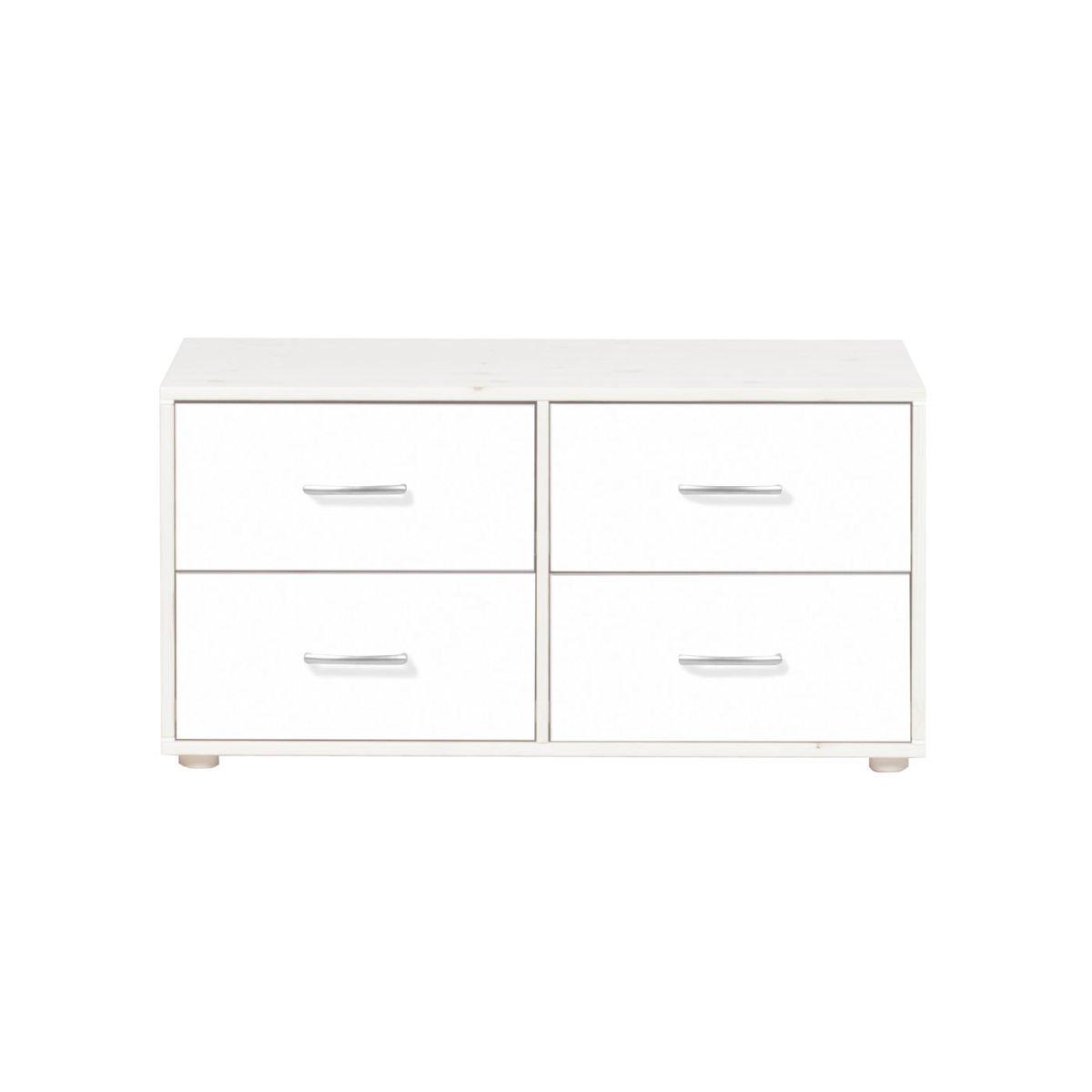 classic kommode 4 sch be kieferwei lack wei wei 315. Black Bedroom Furniture Sets. Home Design Ideas
