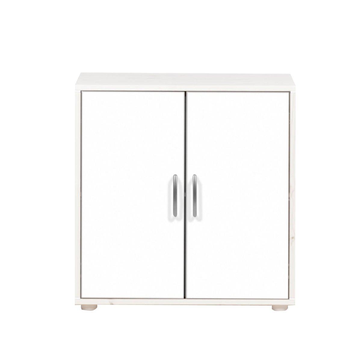 classic kommode 2 t ren kieferwei lack wei wei 220. Black Bedroom Furniture Sets. Home Design Ideas
