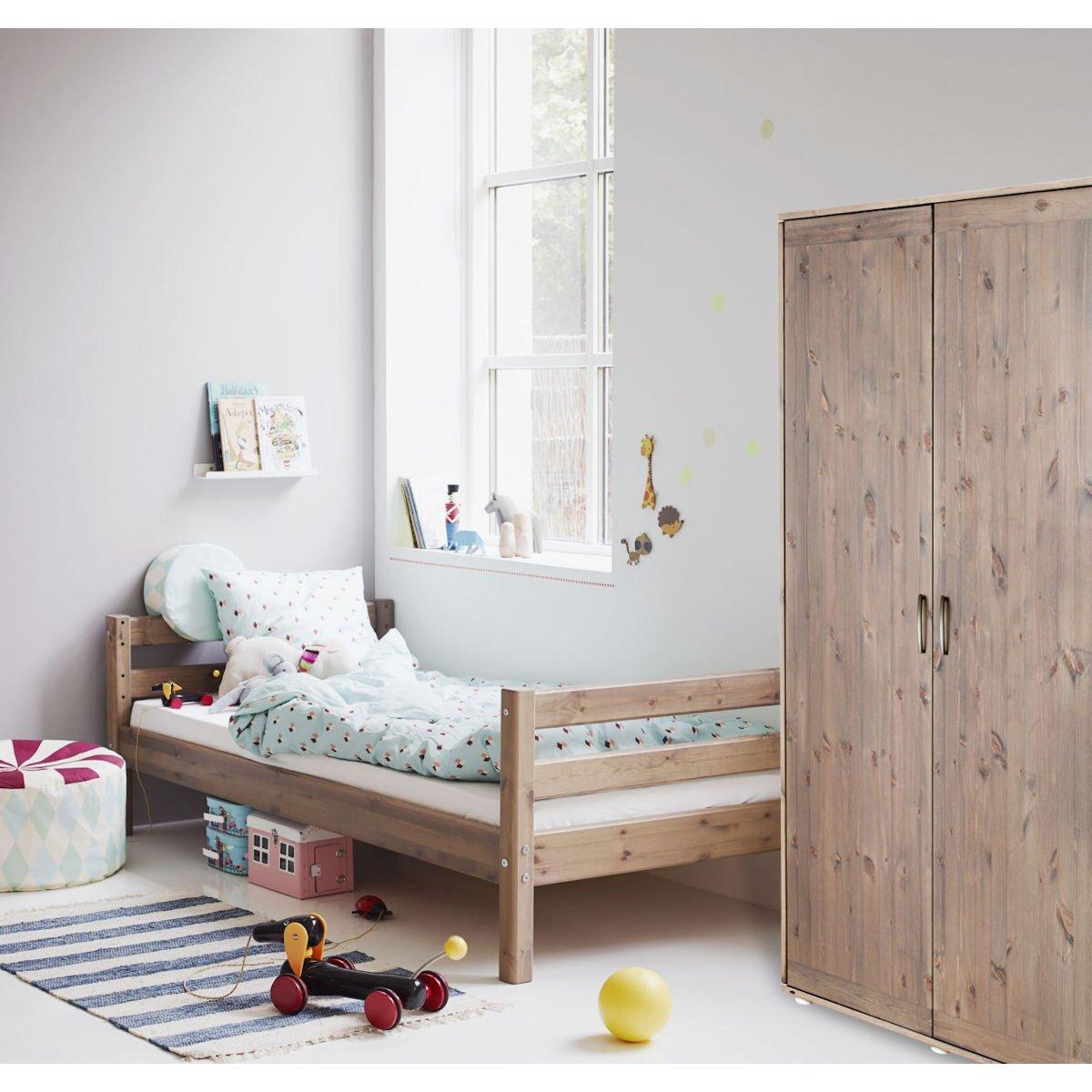 kleiderschrank 2 t ren kiefer urban grey urban grey 347. Black Bedroom Furniture Sets. Home Design Ideas