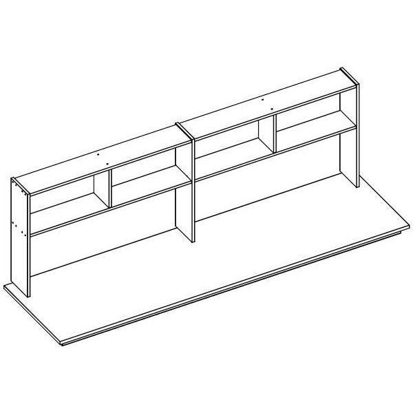 flexa basic trendy schreibplatte mit regal f hochbett nat 194. Black Bedroom Furniture Sets. Home Design Ideas