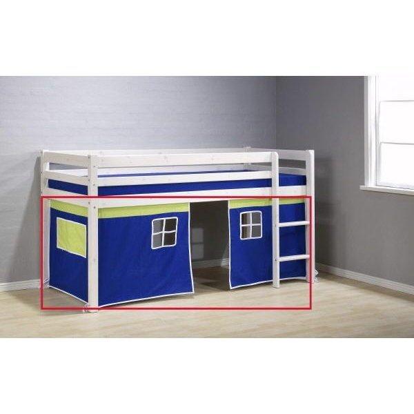 flexa basic hit vorhang 3 teile blau gr n 49. Black Bedroom Furniture Sets. Home Design Ideas