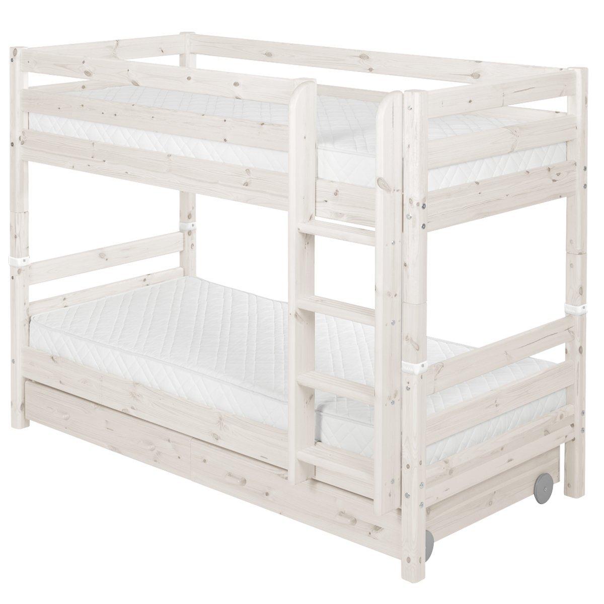 flexa classic etagenbett in wei 90 10177 2 01 913. Black Bedroom Furniture Sets. Home Design Ideas