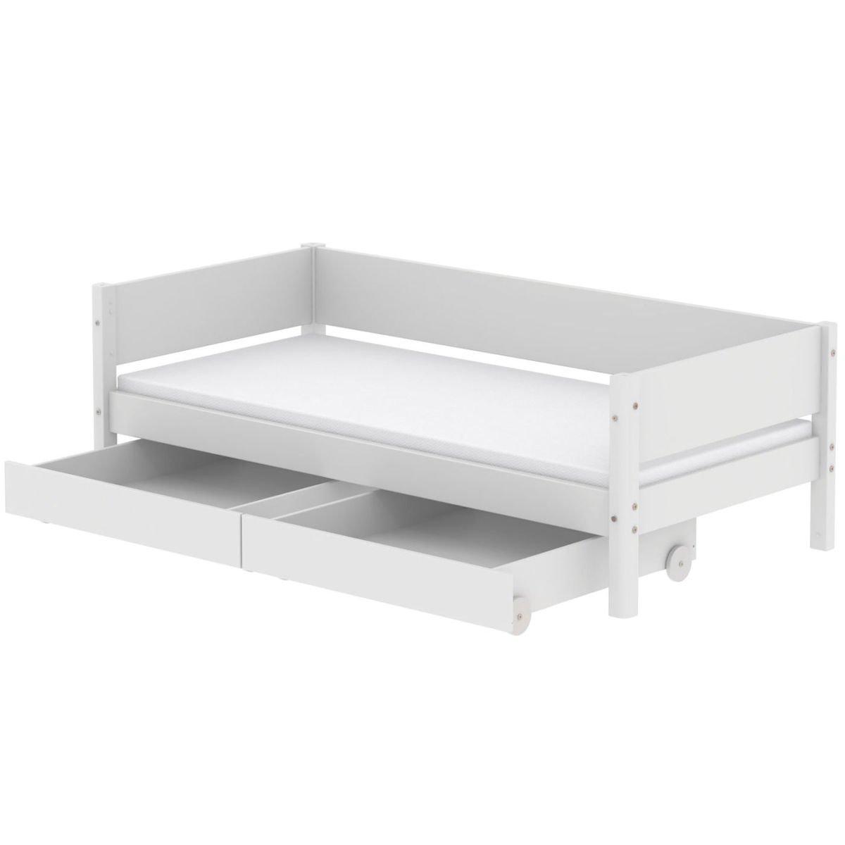 Wundervoll Einzelbett Weiß Das Beste Von White 90x200 Mit 2 Schübe Weiß/weiß