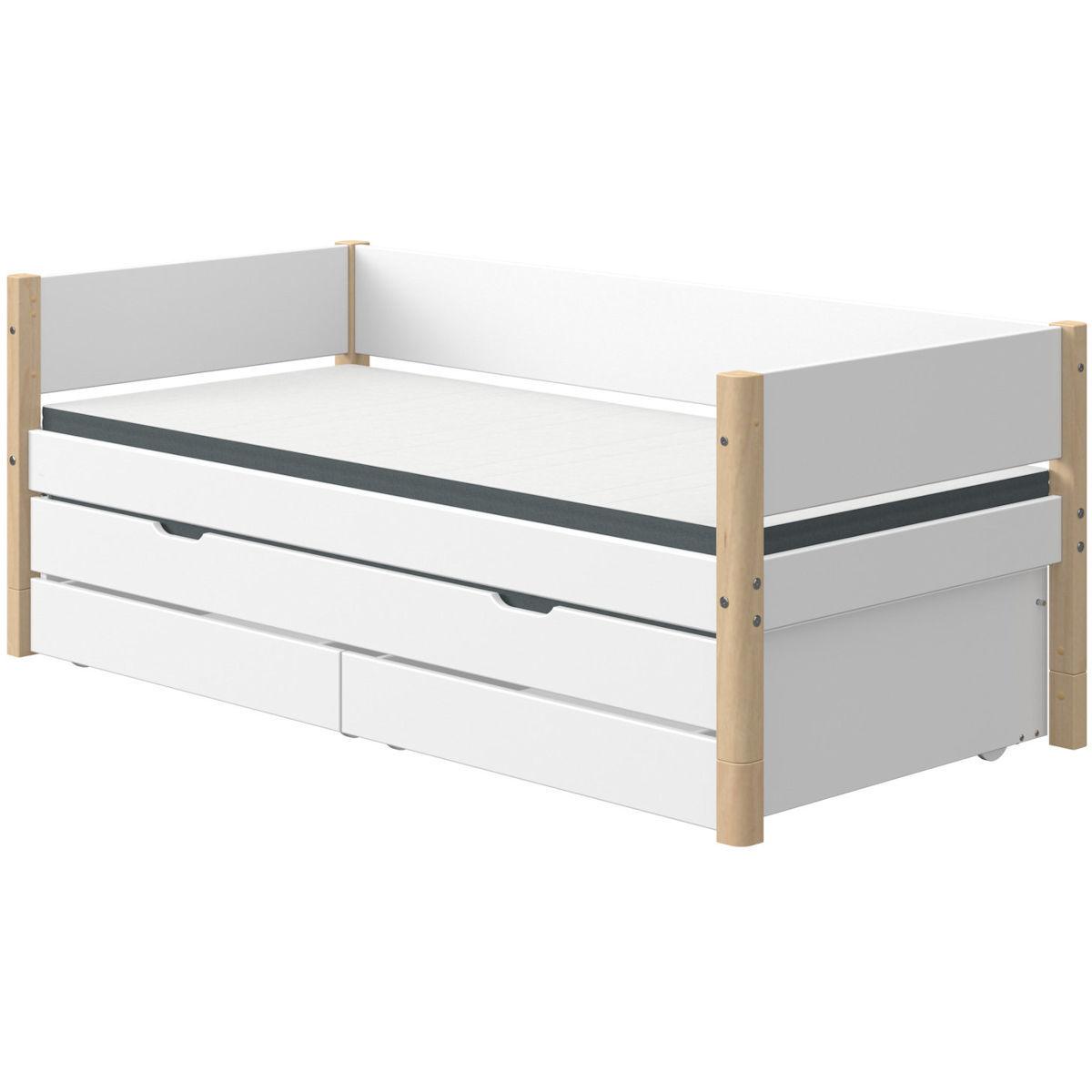white einzelbett 90x200 g steb 2 sch be wei birke 789. Black Bedroom Furniture Sets. Home Design Ideas