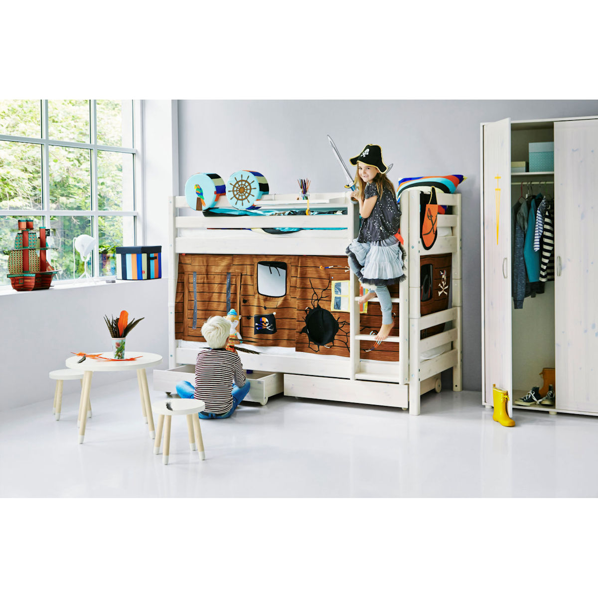 flexa classic etagenbett in natur 90 10177 1 01 858. Black Bedroom Furniture Sets. Home Design Ideas