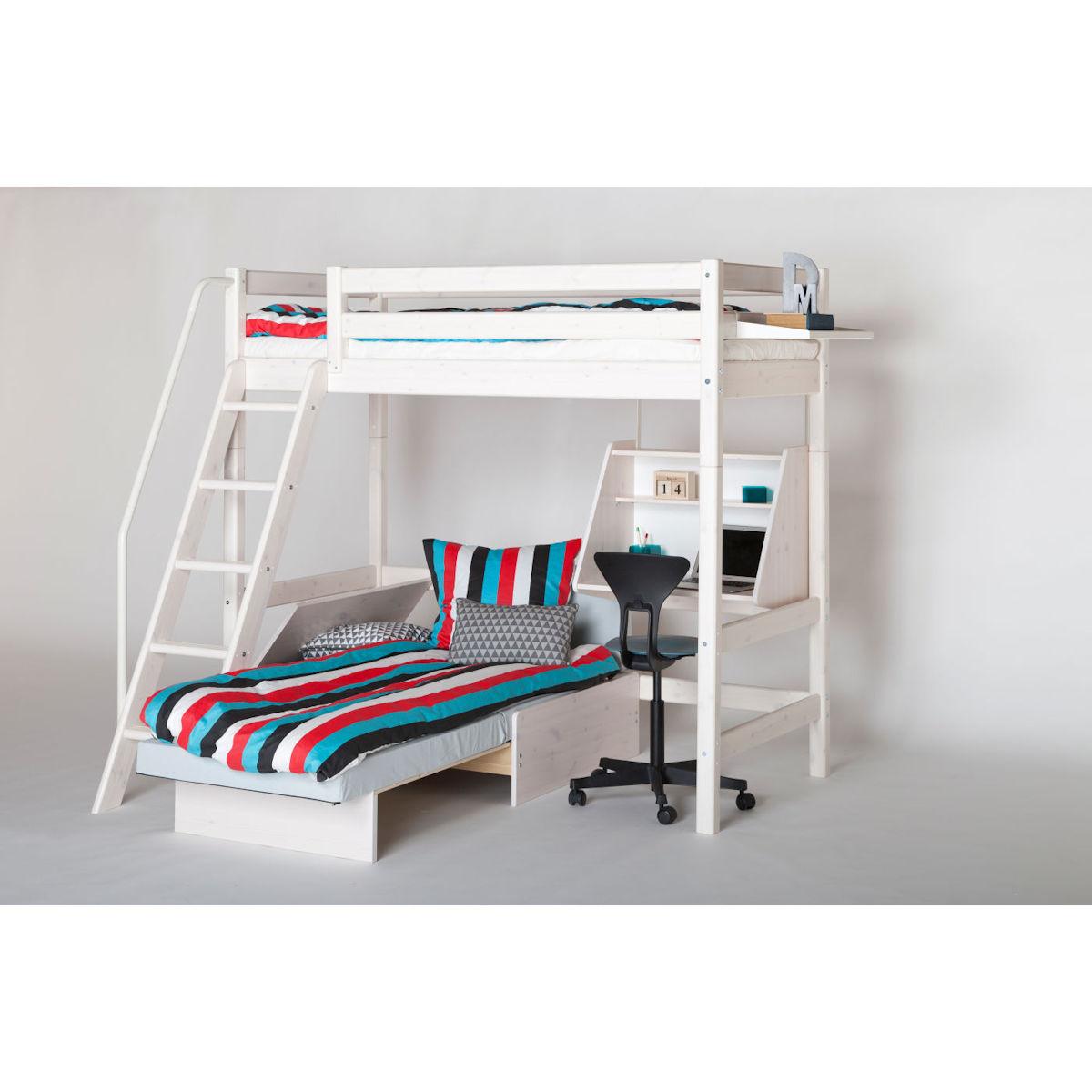 flexa hochbett wei amazing white halbhohes bett mit gerader leiter rutsche wei h cm with flexa. Black Bedroom Furniture Sets. Home Design Ideas