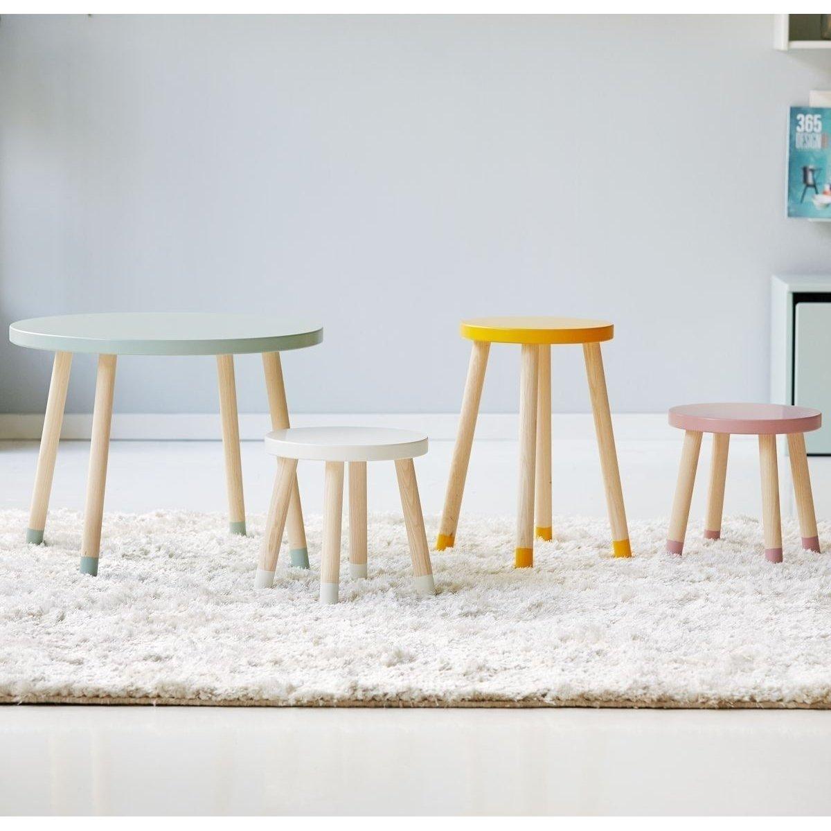 flexa play kindertisch 60 cm und 47 cm hoch in wei 101. Black Bedroom Furniture Sets. Home Design Ideas