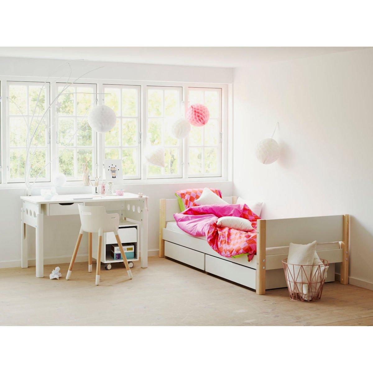 Exquisit Flexa White Einzelbett Sammlung Von 90x200 Cm Schübe U. Sicherung Weiß
