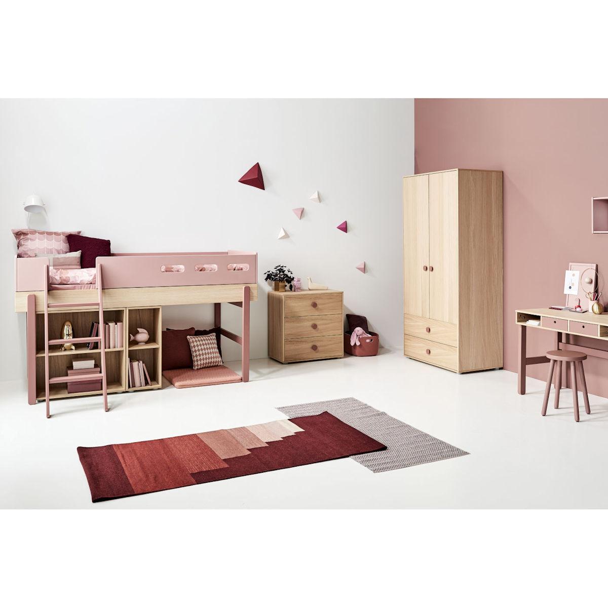 flexa popsicle halbhohes bett 90x200 kiwi 80 24301 31. Black Bedroom Furniture Sets. Home Design Ideas