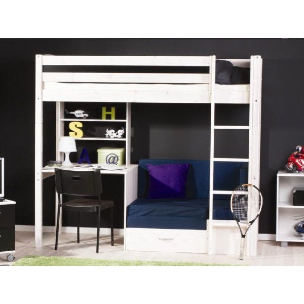 flexa basic thuka trendy hochbett gerade leiter weiss. Black Bedroom Furniture Sets. Home Design Ideas