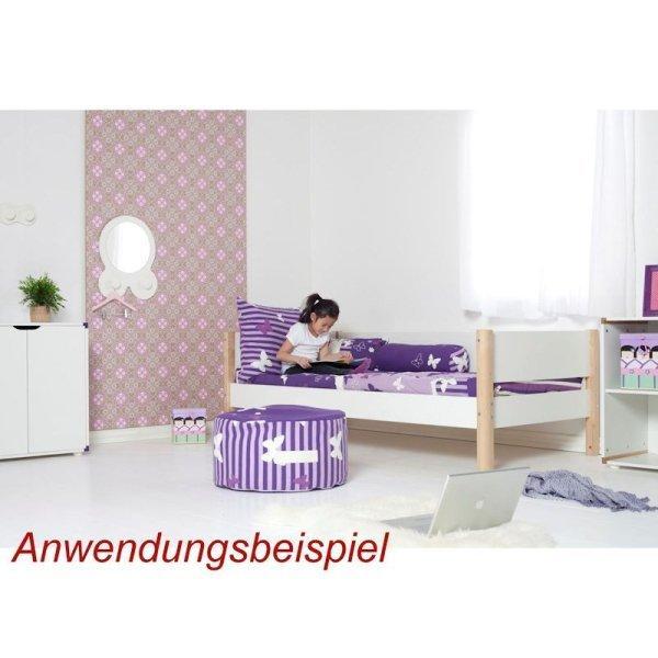 flexa white einzelbett 90x190 pfosten birke 80 17101 95 269. Black Bedroom Furniture Sets. Home Design Ideas
