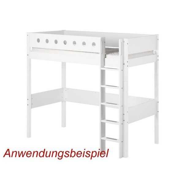 flexa white pfosten ger leiter f 90x200 hochbett wei. Black Bedroom Furniture Sets. Home Design Ideas