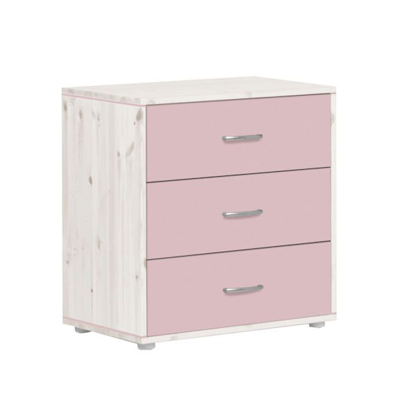 classic kommode 3 sch be kieferwei rosa rosa 295. Black Bedroom Furniture Sets. Home Design Ideas