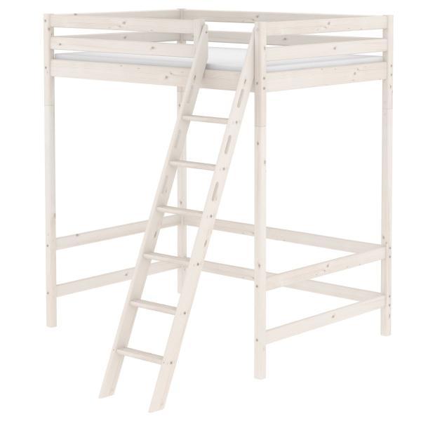 flexa classic hochbett mezzanine wei 90 10746 2 01 835. Black Bedroom Furniture Sets. Home Design Ideas