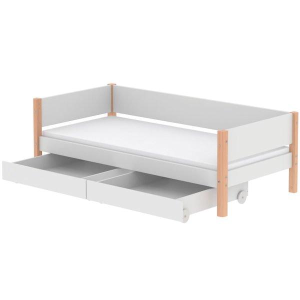 white einzelbett 90x200 2 sch be birke 90 10756 95 499. Black Bedroom Furniture Sets. Home Design Ideas