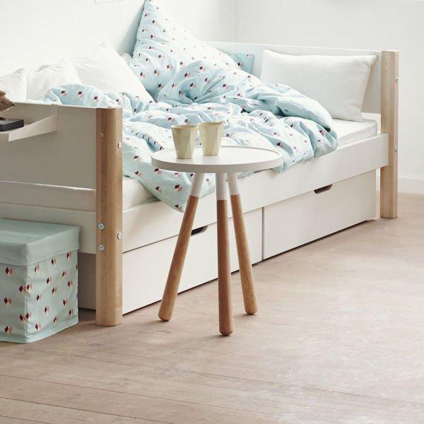white einzelbett 90x200 2 sch be wei wei 90 10756 40 499. Black Bedroom Furniture Sets. Home Design Ideas