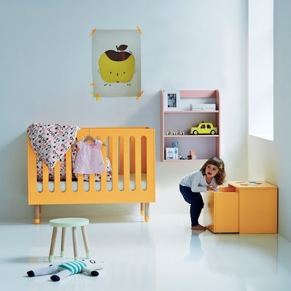 flexa play kinderbett babybett in 60x120 cm mintgr n 407. Black Bedroom Furniture Sets. Home Design Ideas