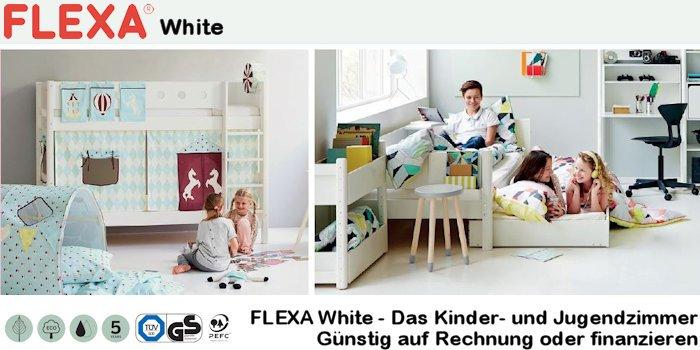 FLEXA White Kinderzimmer und Hochbetten, Schränke und Zubehör